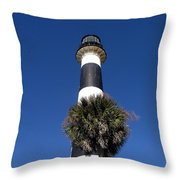 Cape Canaveral Light On The Atlantic Coast Of Florida Throw Pillow