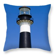 Cape Canaveral Lighthouse On The East Coast Of Florida Throw Pillow