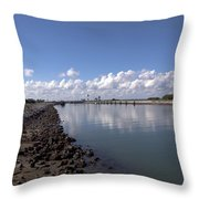 Cape Canaveral Locks Florida Throw Pillow