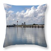 Cape Canaveral Locks In Florida Throw Pillow