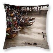 Cape Coast Storm Throw Pillow
