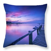 Cape Cod Art Sunrise On Pleasant Bay In July Throw Pillow