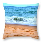 Cape Cod Beach Day Throw Pillow
