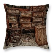 Cape Cod Cranberry Crates Throw Pillow