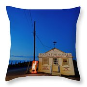 Cape Cod Fish Market Throw Pillow