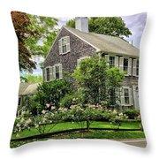 Cape Cod Floral Throw Pillow