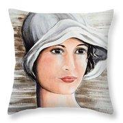 Cape Cod Girl Throw Pillow