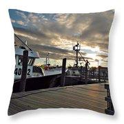 Cape Cod Harbor Throw Pillow