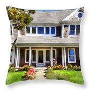 Cape Cod Home Throw Pillow