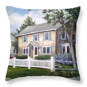 Cape Cod House Painting Throw Pillow