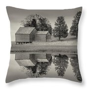 Cape Cod Reflections Black And White Photography Throw Pillow