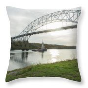Cape Cod Sagamore Bridge Series #3 Throw Pillow