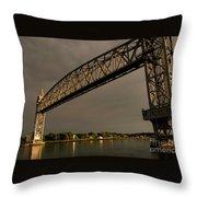 Cape Cod Train Bridge Throw Pillow