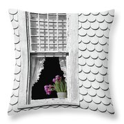 Cape Cod Victorian Lady Throw Pillow