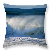 Cape Cod Winter Breakers Throw Pillow