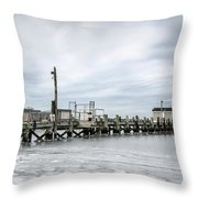 Cape Cod Winter Throw Pillow