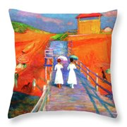 Cape Code Pier Throw Pillow