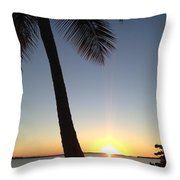 Cape Coral Winter Sunset  Throw Pillow