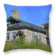Cape Croker Schoolhouse, Ontario, Canada Throw Pillow