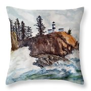 Cape Disappointment Throw Pillow