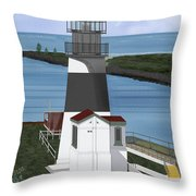 Cape Disappointment At Fort Canby Washington Throw Pillow