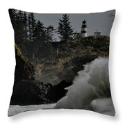 Cape Disappointment Finale Throw Pillow