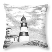 Cape Disappointment Lighthouse Throw Pillow
