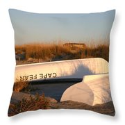 Cape Fear Boats Throw Pillow