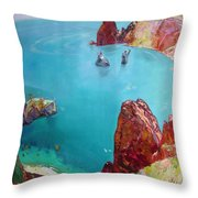 Cape Fiolent Throw Pillow