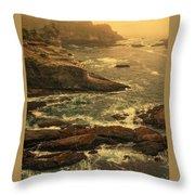 Cape Flattery Misty Morning - Washington Throw Pillow