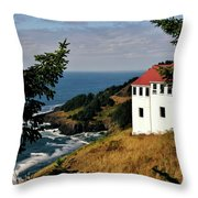 Cape Foulweather Point Throw Pillow