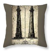 Cape Hatteras Art Throw Pillow