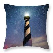 Cape Hatteras Light Under The Stars Throw Pillow