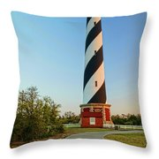 Cape Hatteras Lighthouse In Morning  Throw Pillow