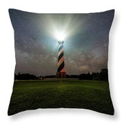 Cape Hatters Light House Stars Throw Pillow