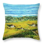 Cape Huts Throw Pillow
