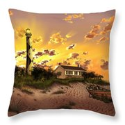 Cape Lookout Lighthouse 2 Throw Pillow