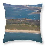 Cape Lookout Lighthouse Distance Throw Pillow
