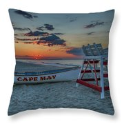 Cape May At Sunrise - Cape May New Jersey Throw Pillow