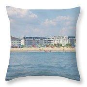 Cape May Beach Scene Throw Pillow
