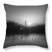 Cape May Light Bw Throw Pillow
