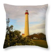 Cape May Lighthouse In Spring Throw Pillow