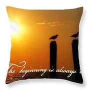 Cape May Morning Quote Throw Pillow