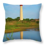 Cape May Morning Reflection Throw Pillow