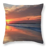Cape May Nj Morning After The Storm Throw Pillow