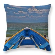 Cape May N J Rescue Boat 2 Throw Pillow