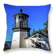 Cape Meares Lighthouse Throw Pillow