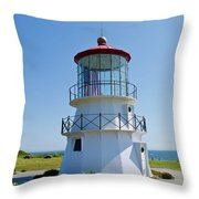 Cape Mendocino Lighthouse Throw Pillow