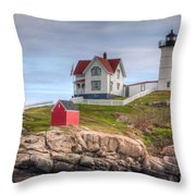 Cape Neddick Nubble Lighthouse I Throw Pillow