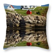 Cape Neddick Reflection - D003756a Throw Pillow by Daniel Dempster